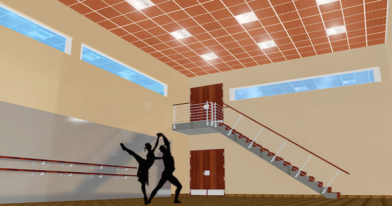 TUCSON SCHOOL OF FINE ARTS - DANCE ROOM - DESIGN CONCEPT