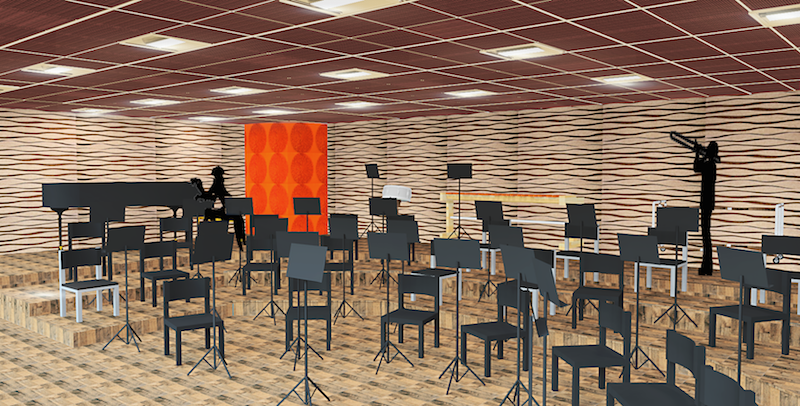 TUCSON SCHOOL OF FINE ARTS - PRACTICE ROOM DESIGN CONCEPT