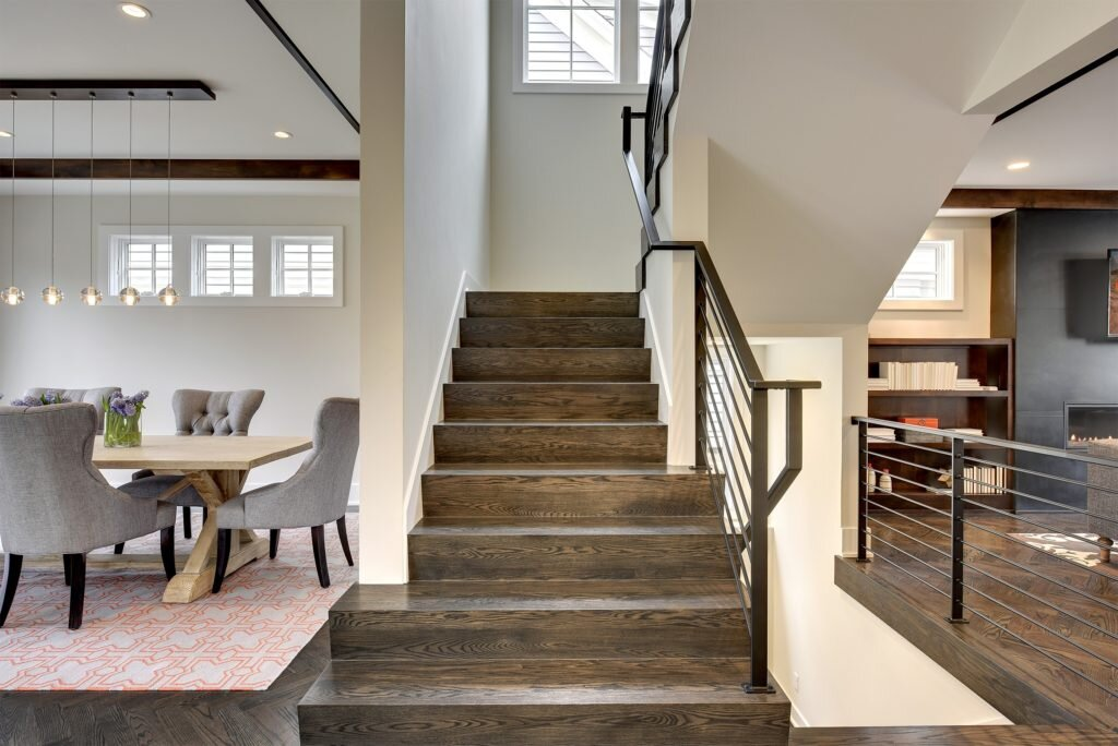 modern farmhouse custom stair rail