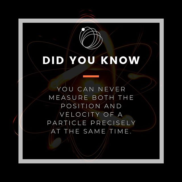 I mean you can still know the position and speed of your car 🚘 , but if your car is shrunk to the scale of an electron, for example, you got a problem, mate. 🙃  This problem comes from the Heisenberg Uncertainty Principle. 〰️ This wraps up this week's #didyouknow facts about quantum physics.  Share it with your friends.  #didyouknowfacts #science #quantumphysics #uncertaintyprinciple #feedyourcuriosity #themercuryblog  Follow @themercuryblog for more cool and inspiring science! 🔥  Support us on Patreon.com/themercuryblog