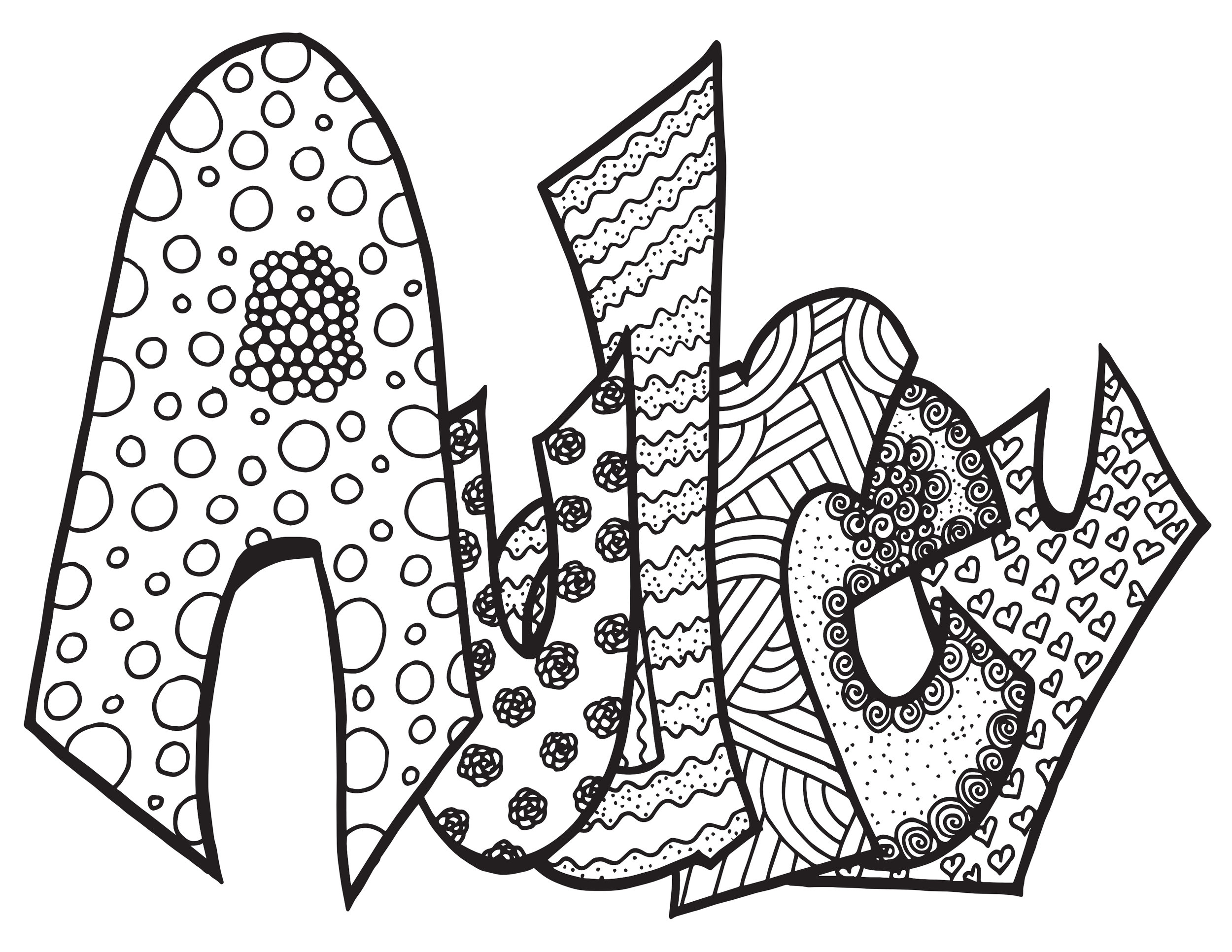 - AUDREY - Free Printable Coloring Pages — Stevie Doodles