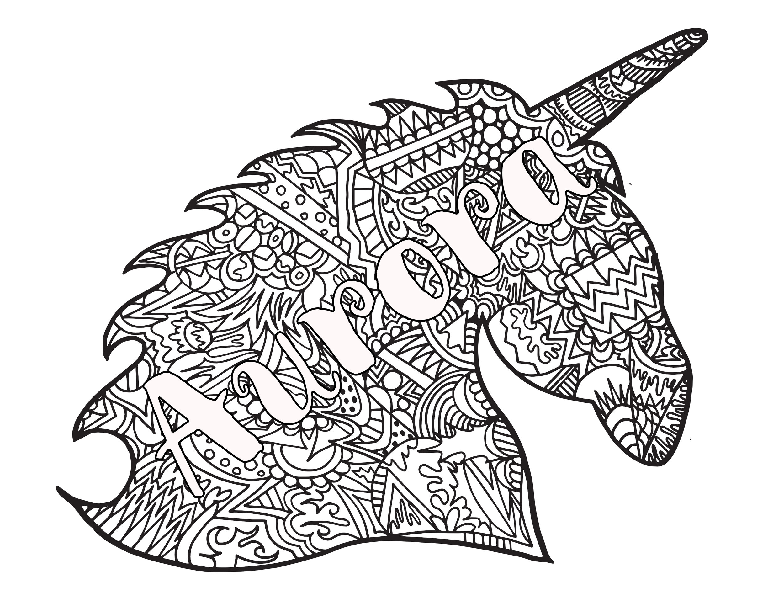 - UNICORN AURORA - Free Printable Coloring Page — Stevie Doodles