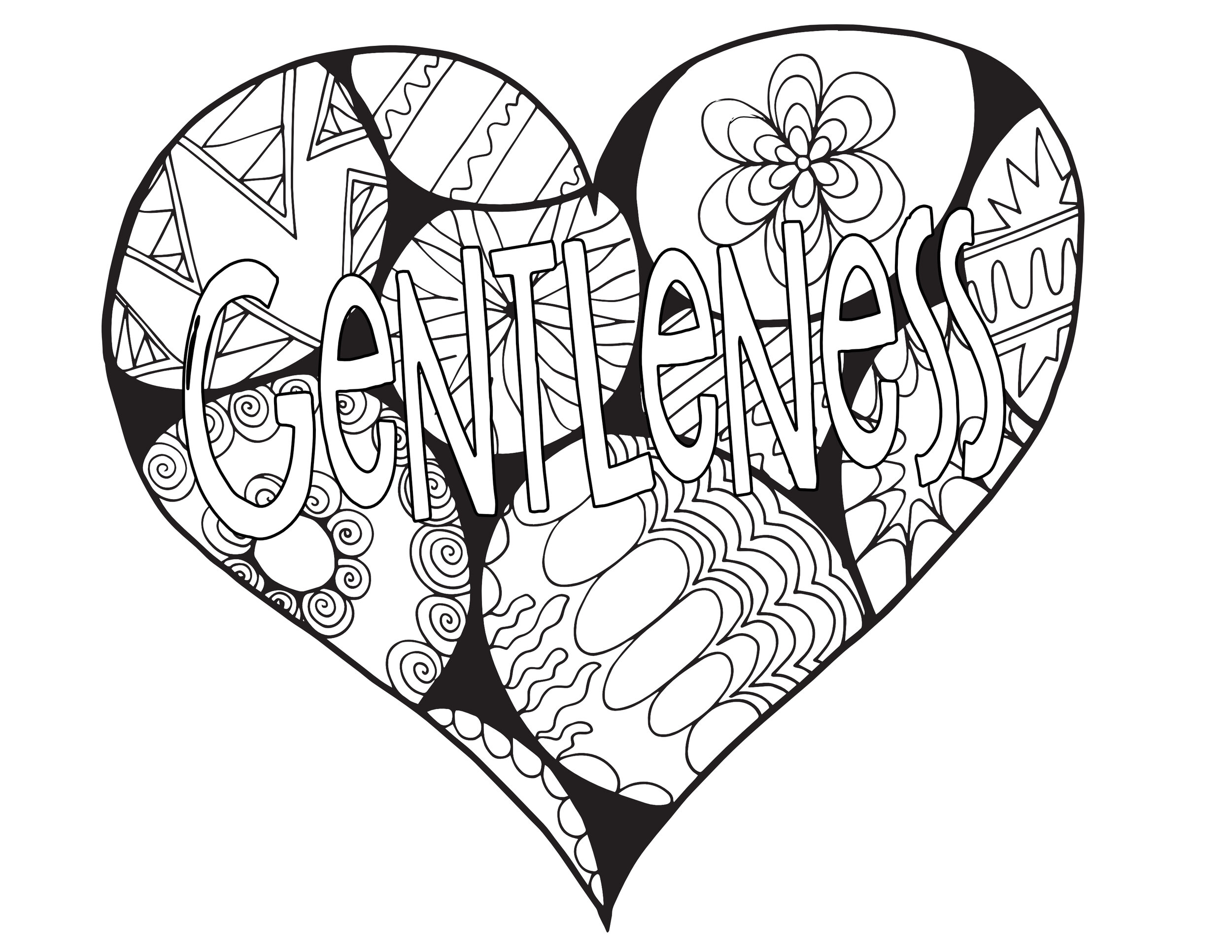 GENTLENESS - Fruits Of The Spirit Free Coloring Page — Stevie Doodles Free  Printable Coloring Pages