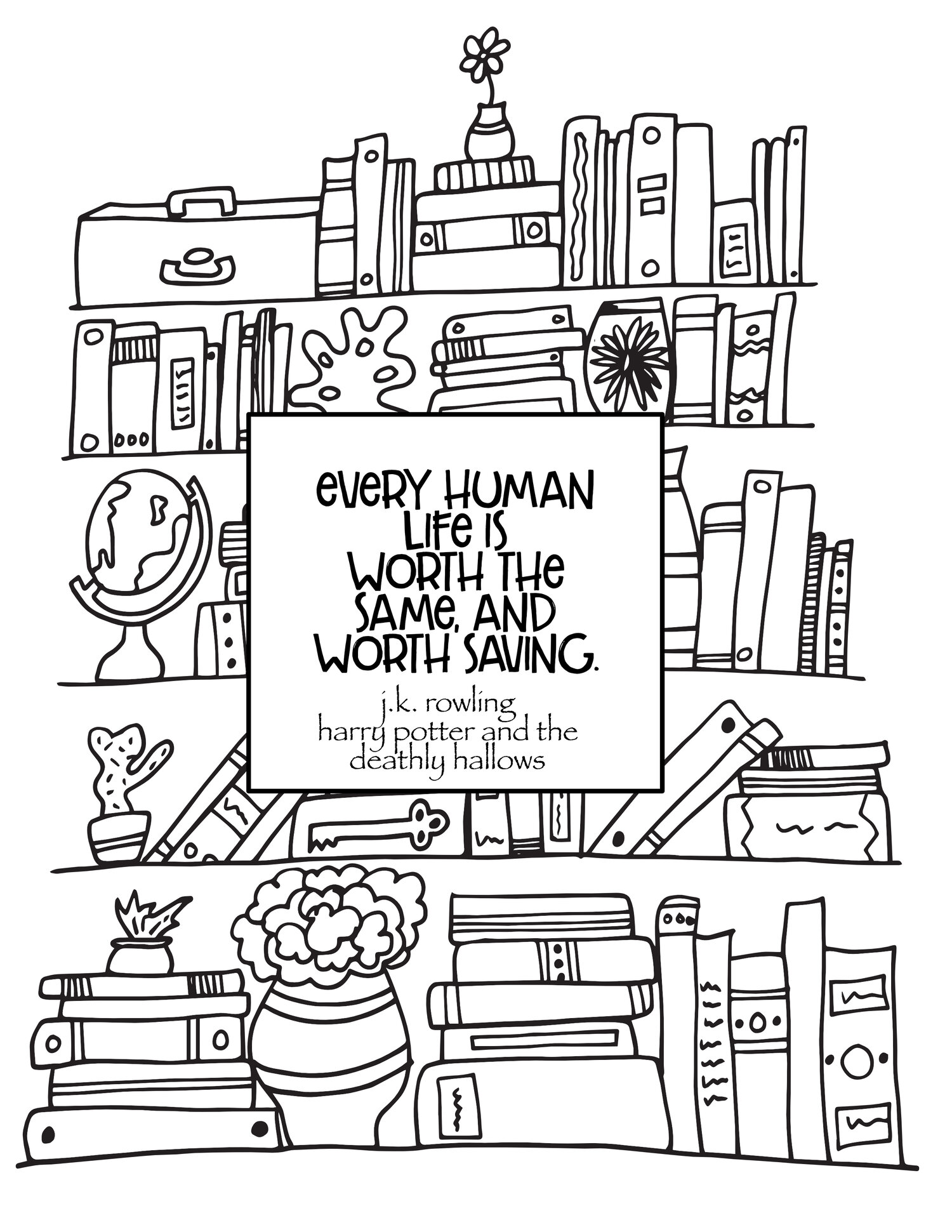 Based on Books — Stevie Doodles Free Printable Coloring Pages