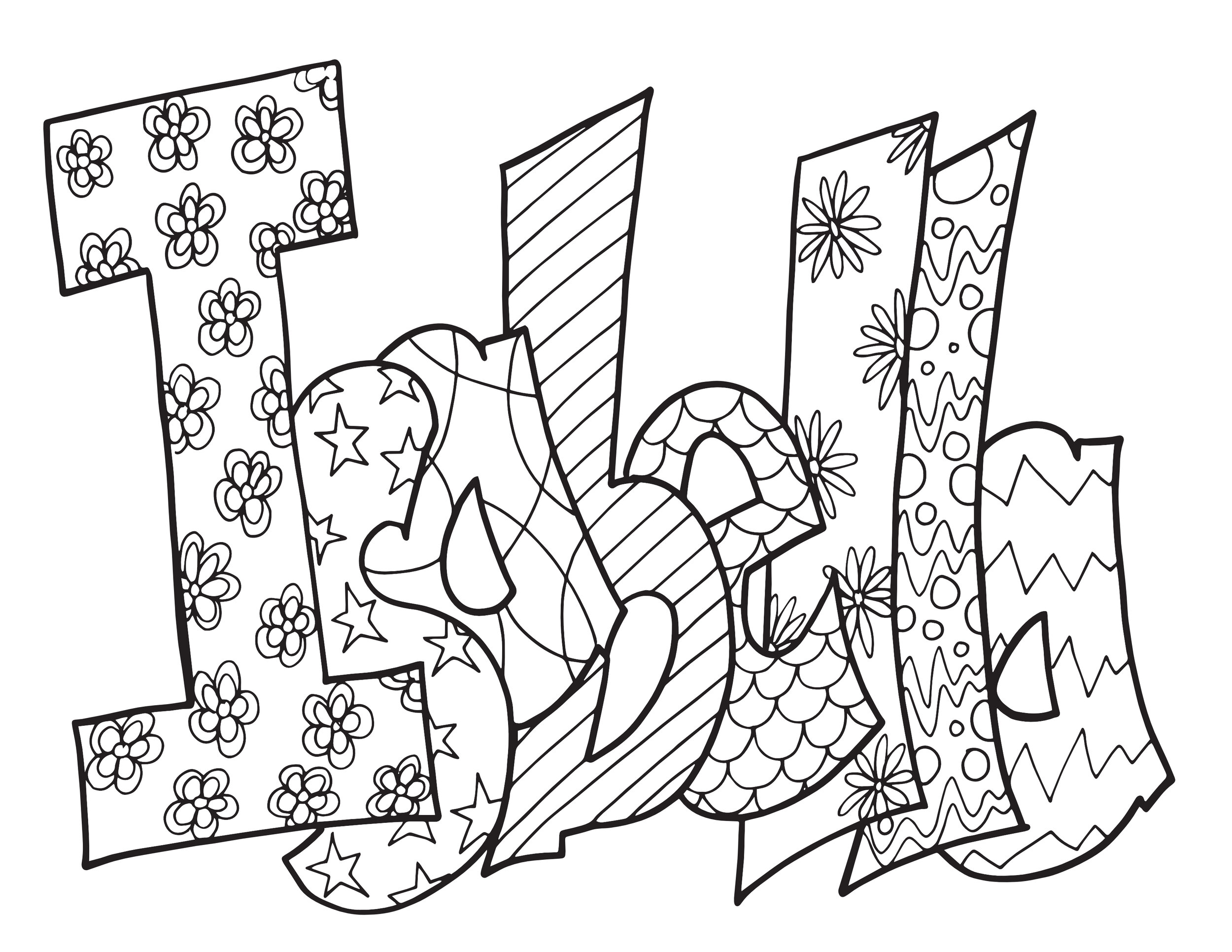 2 ISABELLA FREE COLORING PAGES Stevie Doodles