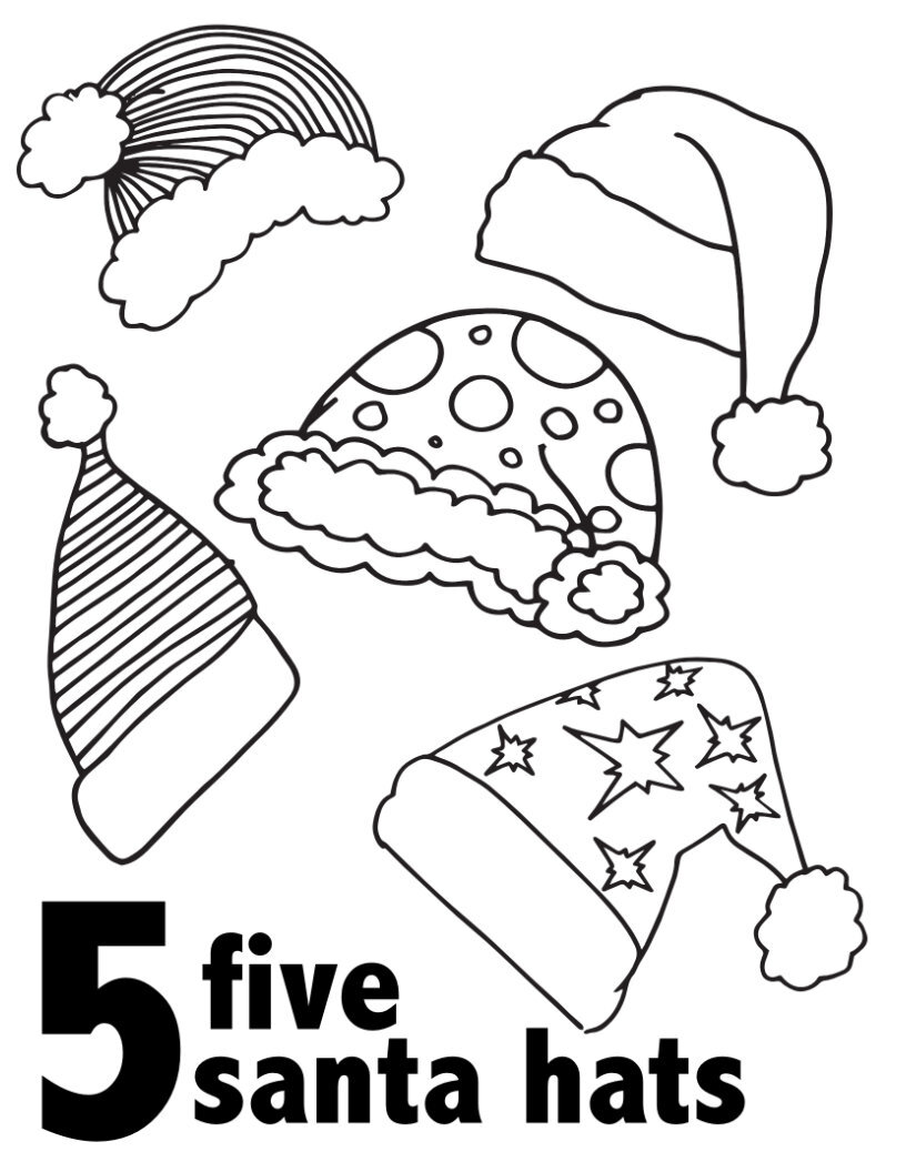 Santa Free Printable Christmas Coloring Pages For Kids Drawing With Crayons