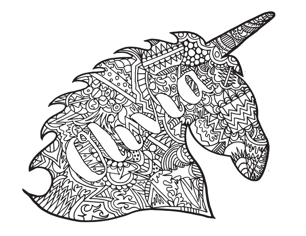 Custom Unicorn Coloring Page — Free Printable Coloring Pages — Stevie  Doodles Free Printable Coloring Pages