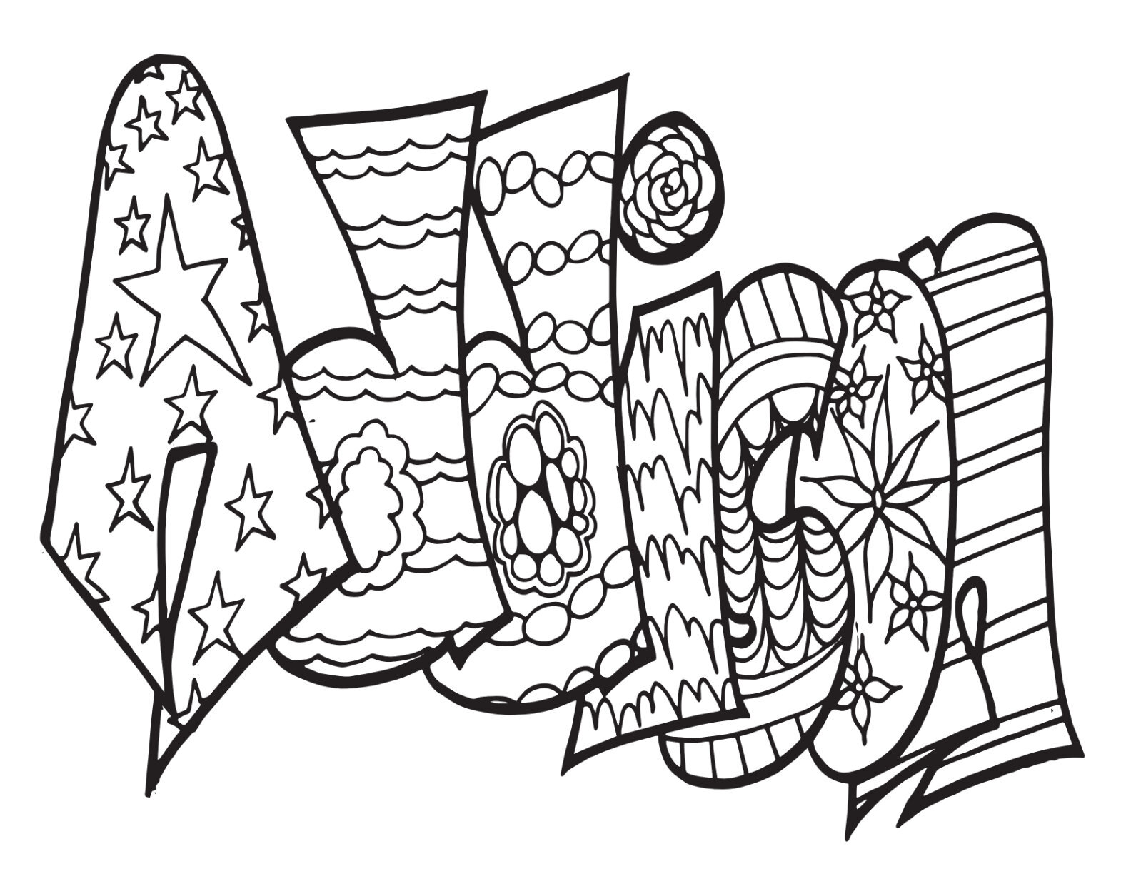 - Custom Unicorn Coloring Page — Free Coloring Pages — Stevie Doodles