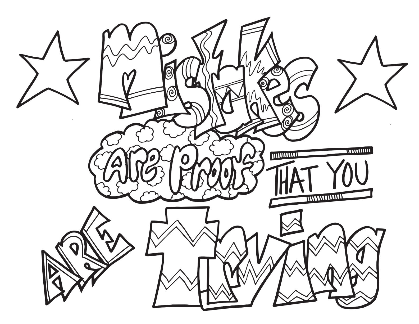 mistakes space proof that you are trying free printable coloring page