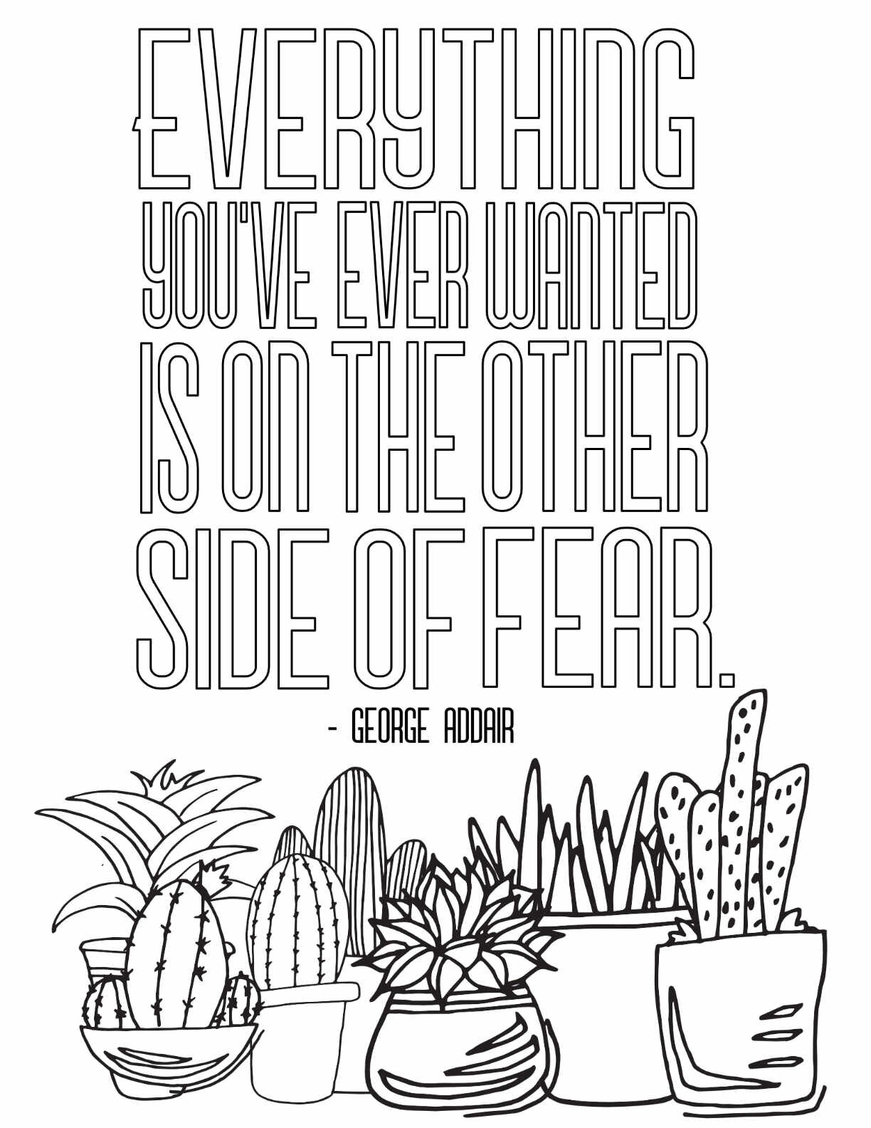 - On The Other Side Of Fear - FREE PRINTABLE COLORING PAGE — Stevie