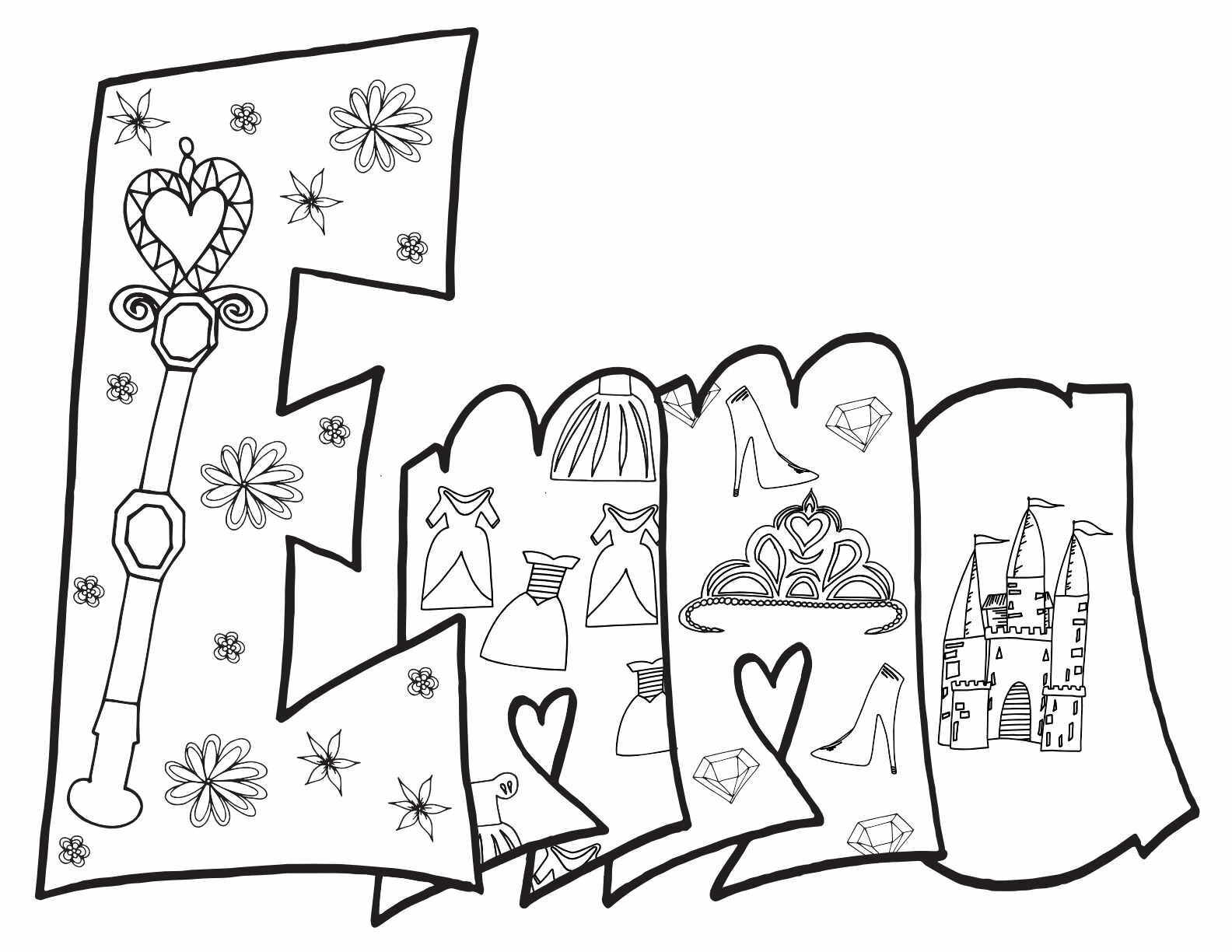 - EMMA - Free Printable Princess Coloring Page — Stevie Doodles
