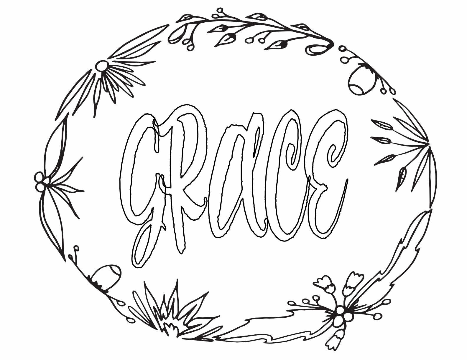 GRACE! 3 Free Printable Coloring Pages — Stevie Doodles