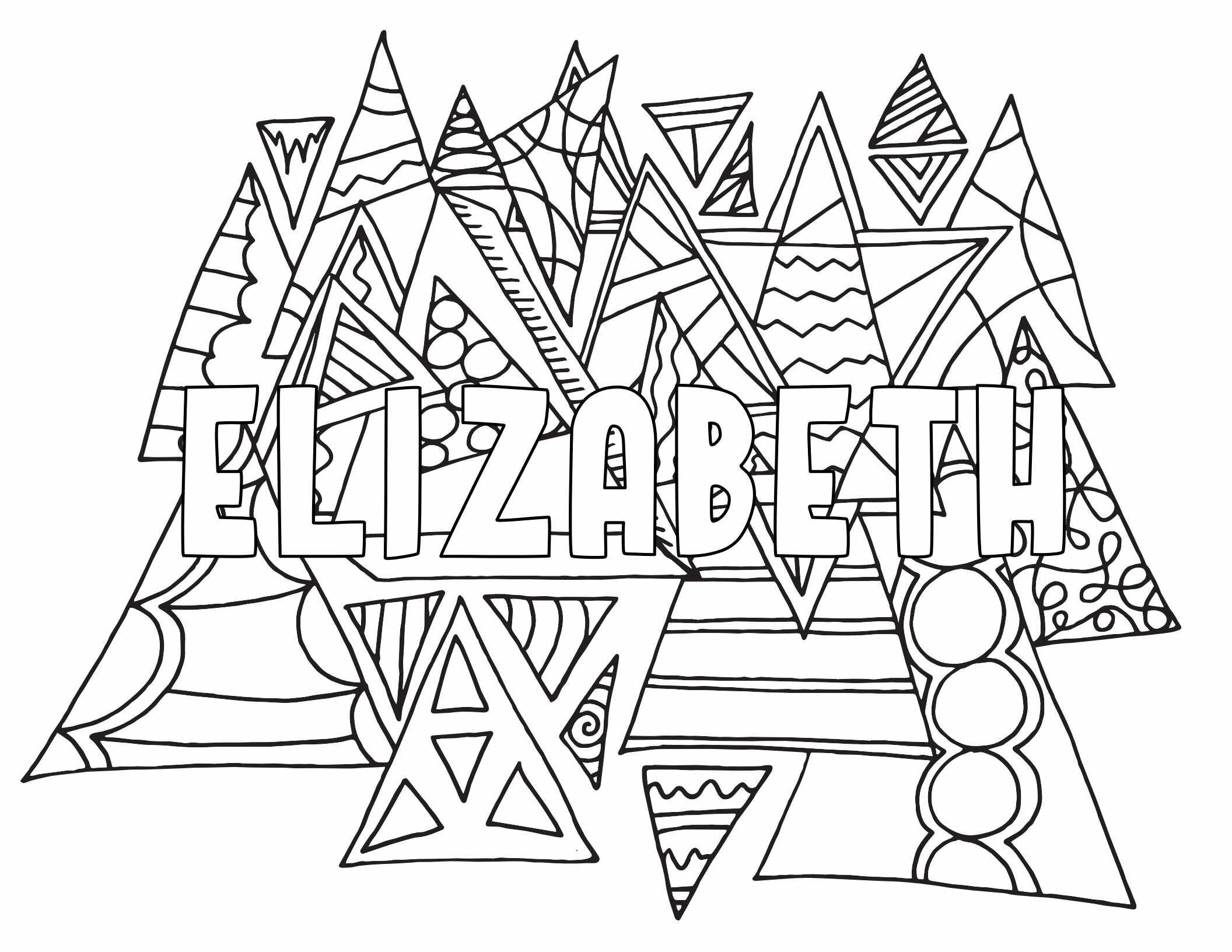 ELIZABETH Two Free Printable Coloring Page Stevie Doodles