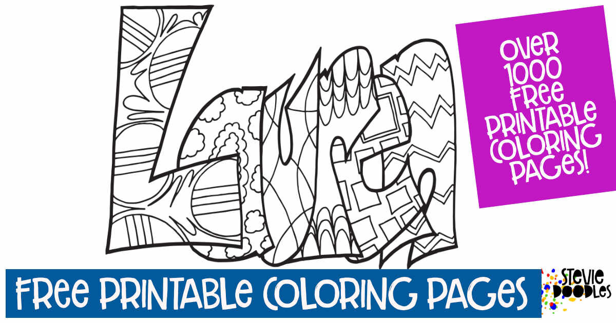 LAUREN - Free Printable Personalized Coloring Page — Stevie Doodles Free  Printable Coloring Pages
