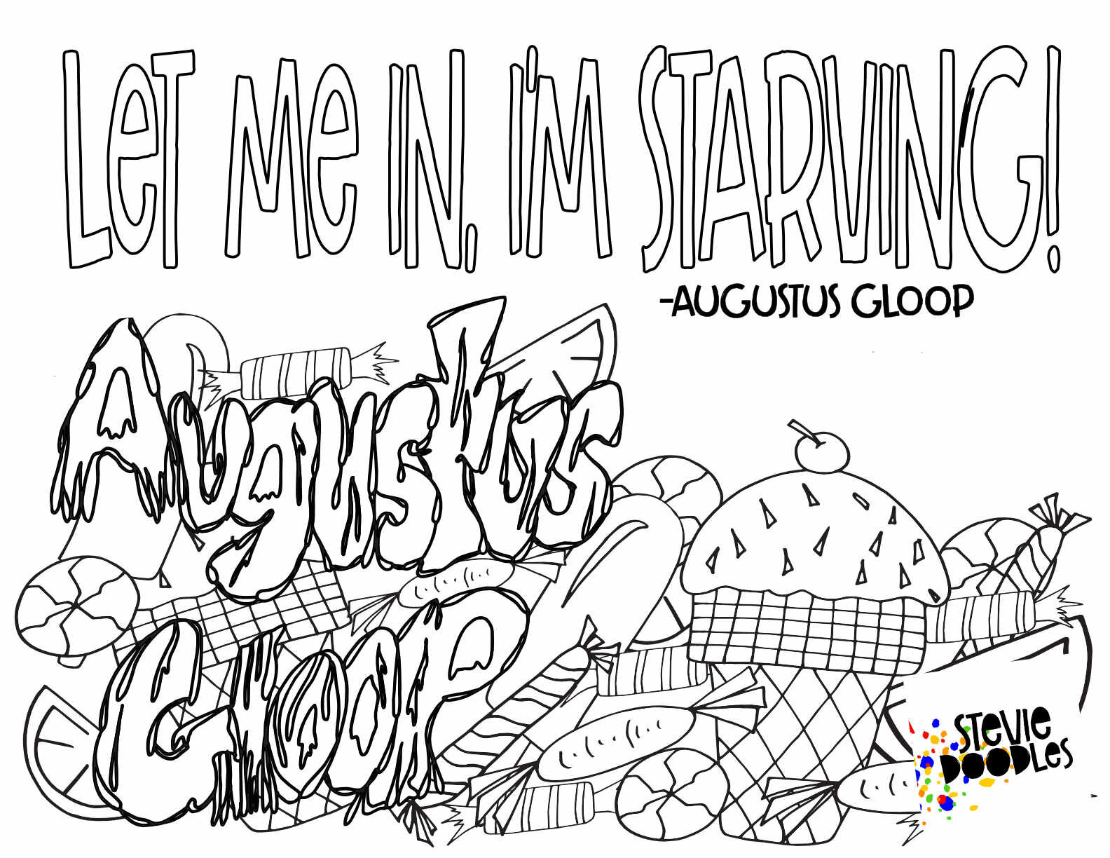 Charlie The Chocolate Factory Free Printable Coloring Pages Stevie Doodles Free Printable Coloring Pages