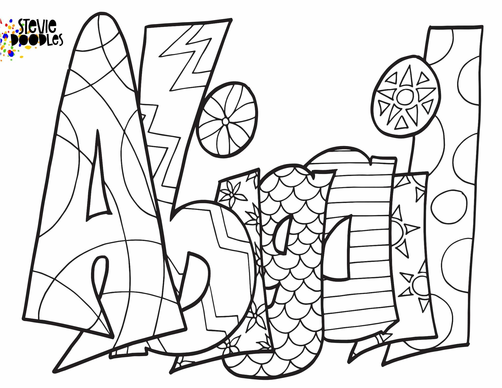 ABIGAIL - Free Printable Coloring Page — Stevie Doodles Free
