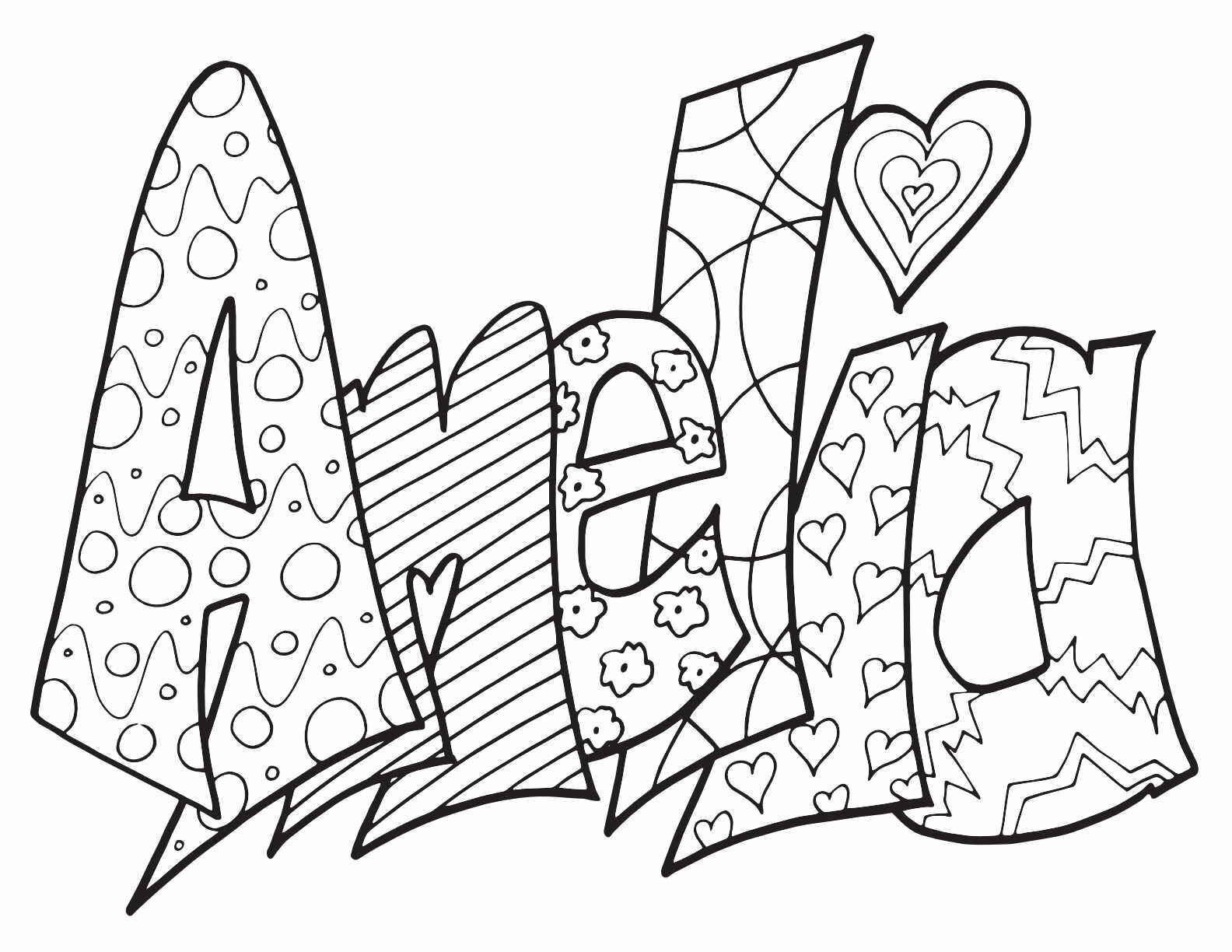 Most Popular Girls Names 2019 — Stevie Doodles Free Printable Coloring Pages