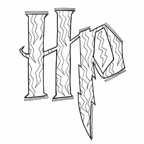 Harry Potter HP Free Printable Coloring Page
