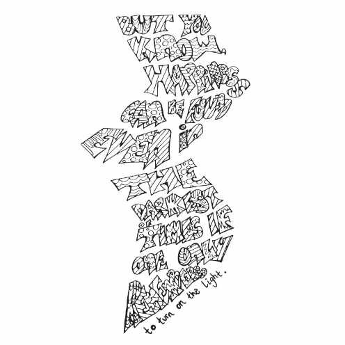 Harry Potter Lightening Quote Free Coloring Page