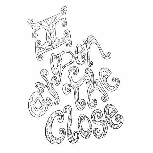 I Open At The Close Free Coloring Page