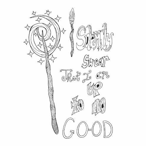 I Solemnly Swear Free Coloring Page