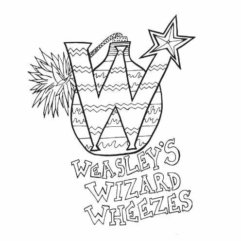 Weasley Wizard Wheezes Free Coloring Page