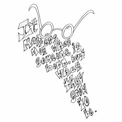 Harry Potter Glasses Quote Free Coloring Page