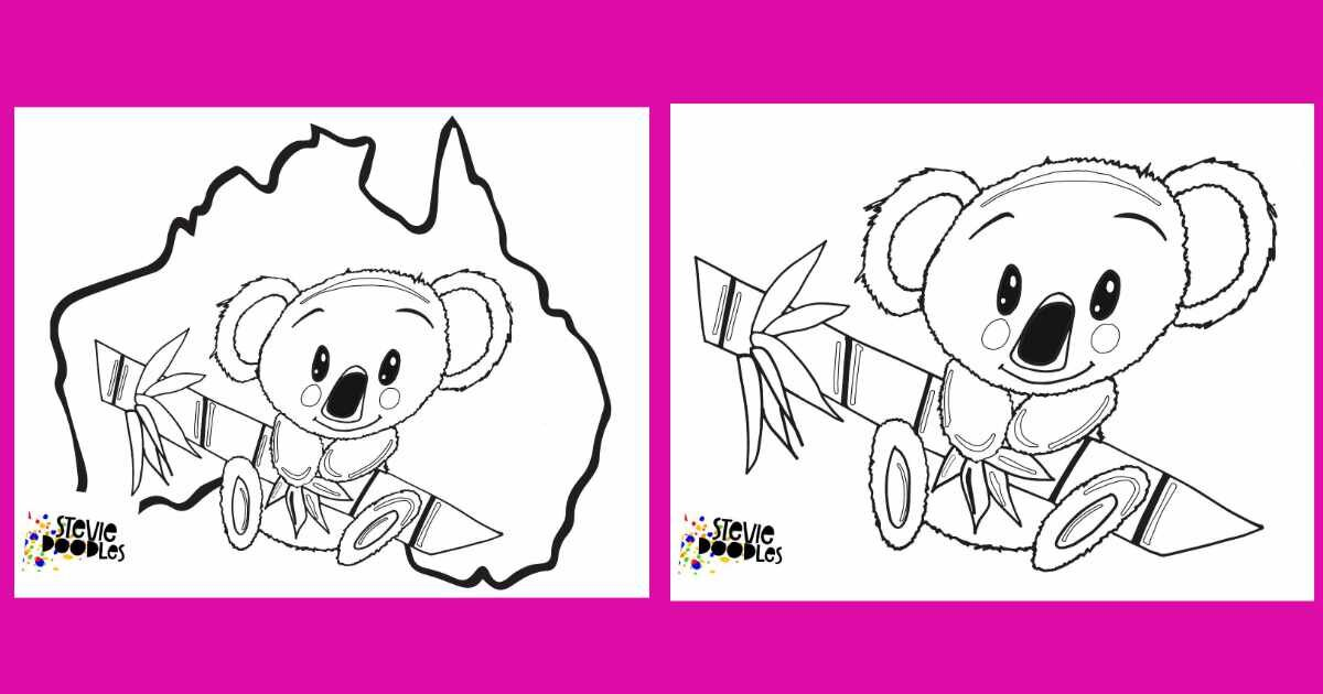 Koala Color by Number   Free Printable Coloring Pages   525x1000
