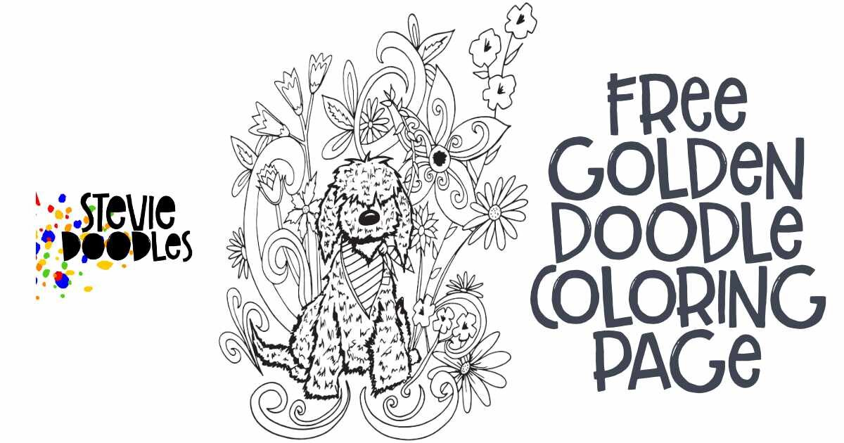 Free Golden Doodle Coloring Page — Stevie Doodles Free Printable Coloring  Pages