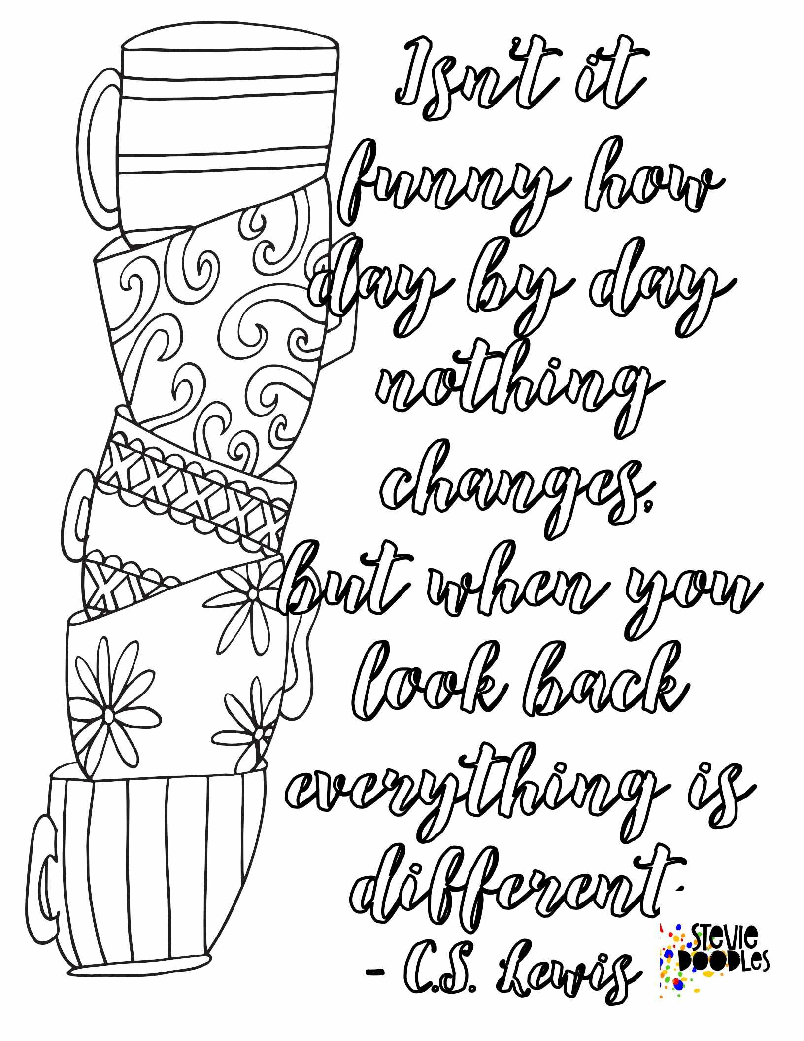5 Free C S Lewis Quote Coloring Pages Stevie Doodles Free Printable Coloring Pages