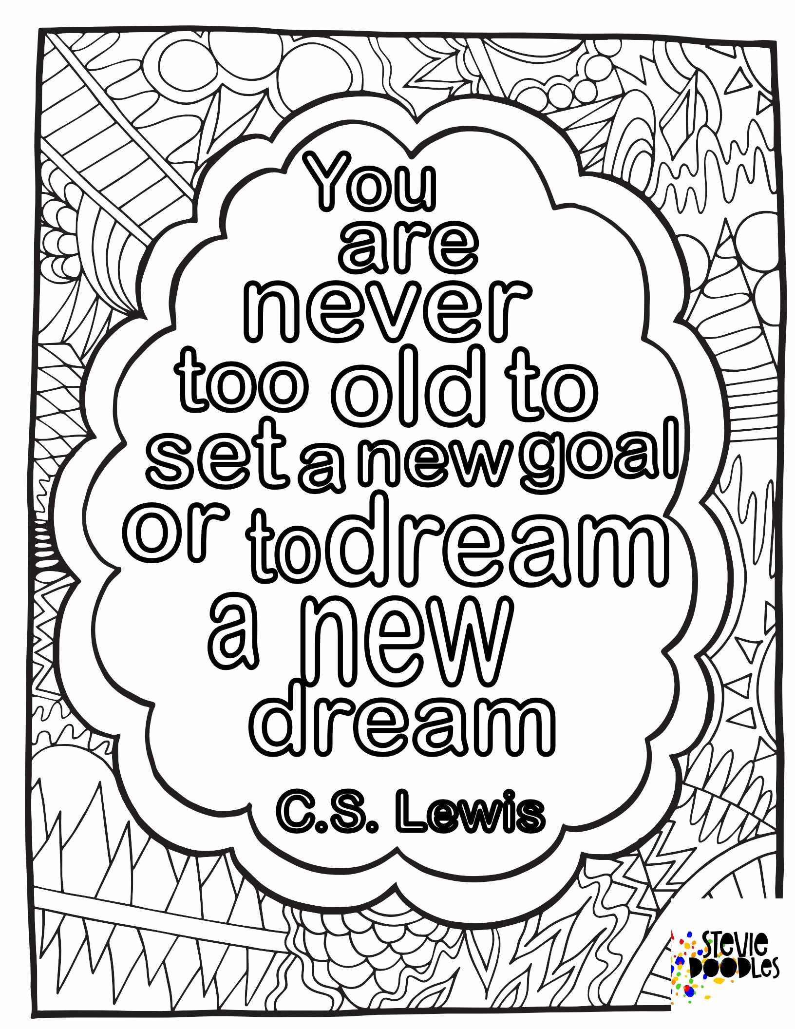 Quotes — Free Coloring Pages — Stevie Doodles