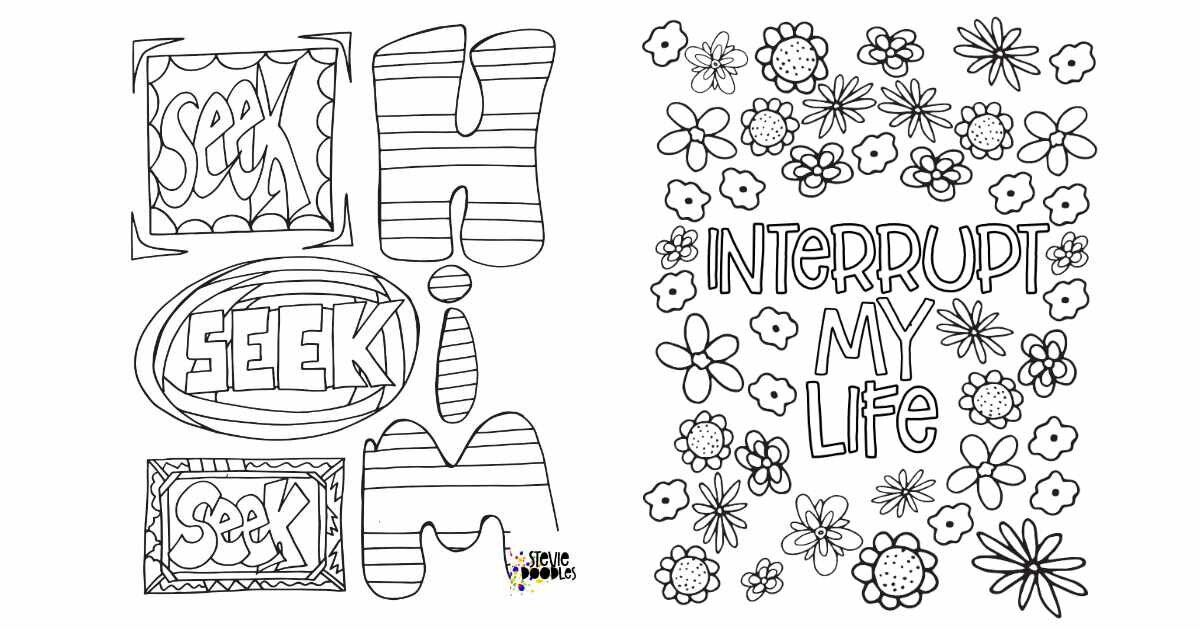 4 Free Coloring Pages Experiencing God Unit 2 Stevie Doodles Free Printable Coloring Pages