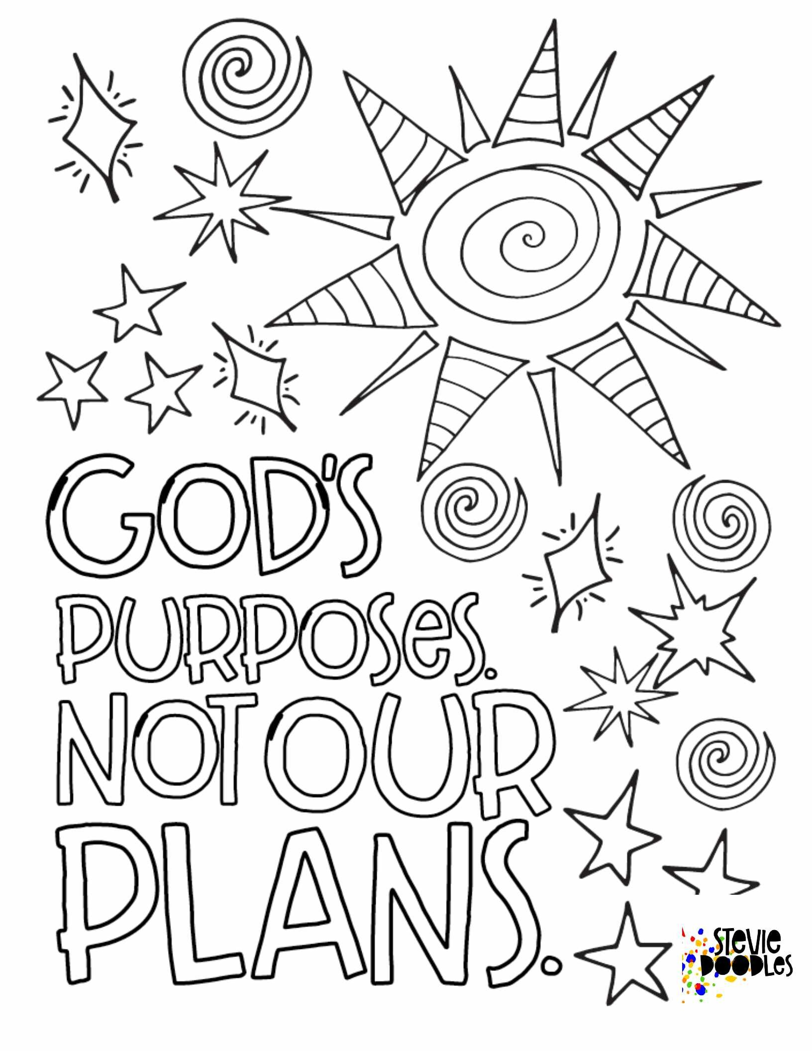 - Christian — Free Coloring Pages — Stevie Doodles