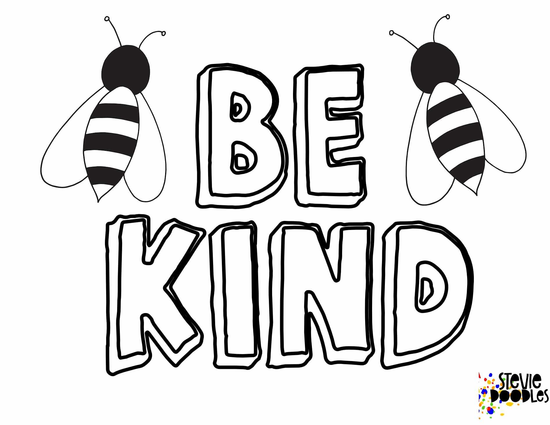 6 free be kind printable coloring pages stevie doodles 6 free be kind printable coloring pages