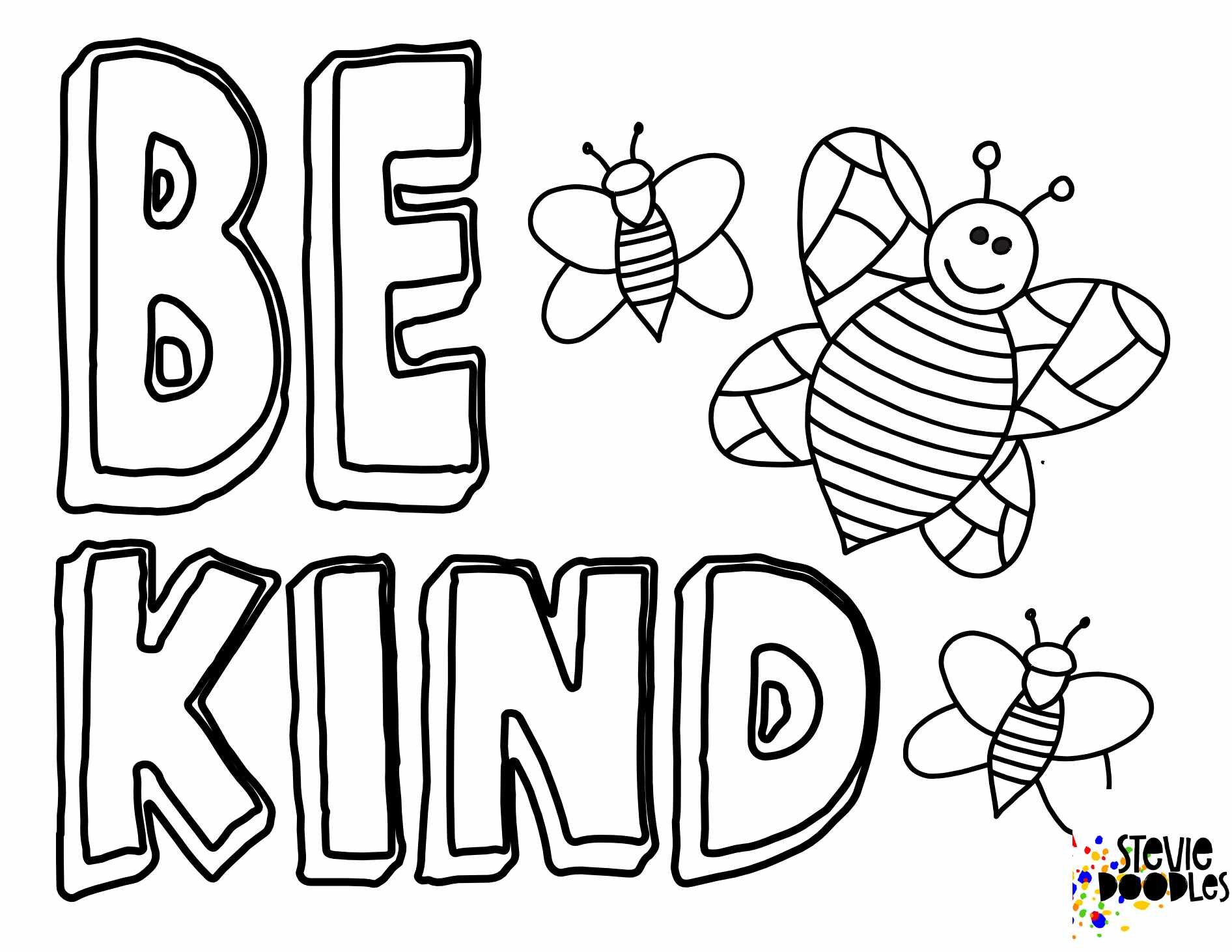 Free BEE Kind Coloring Pages — Stevie Doodles Free Printable Coloring Pages