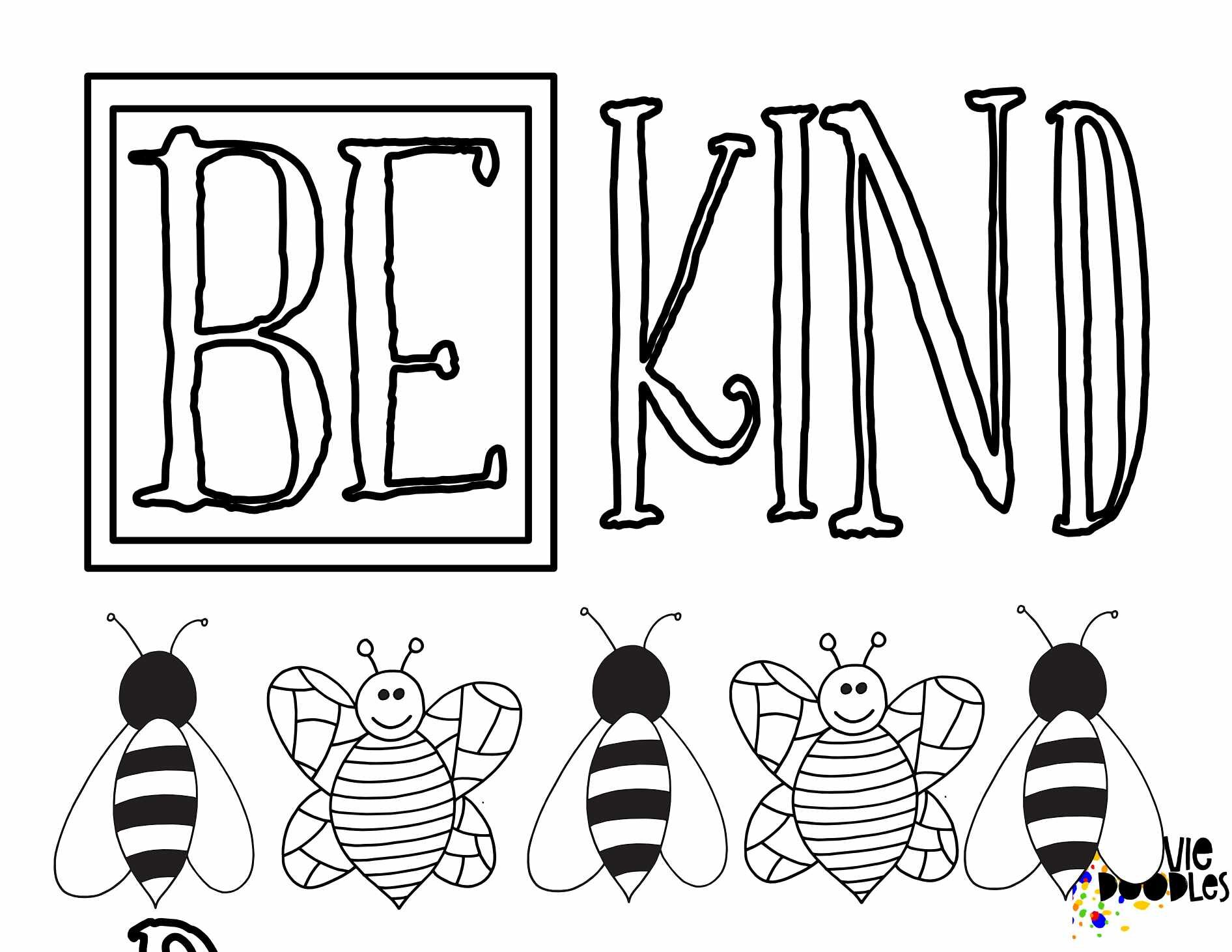 Free BEE Kind Coloring Pages — Stevie Doodles