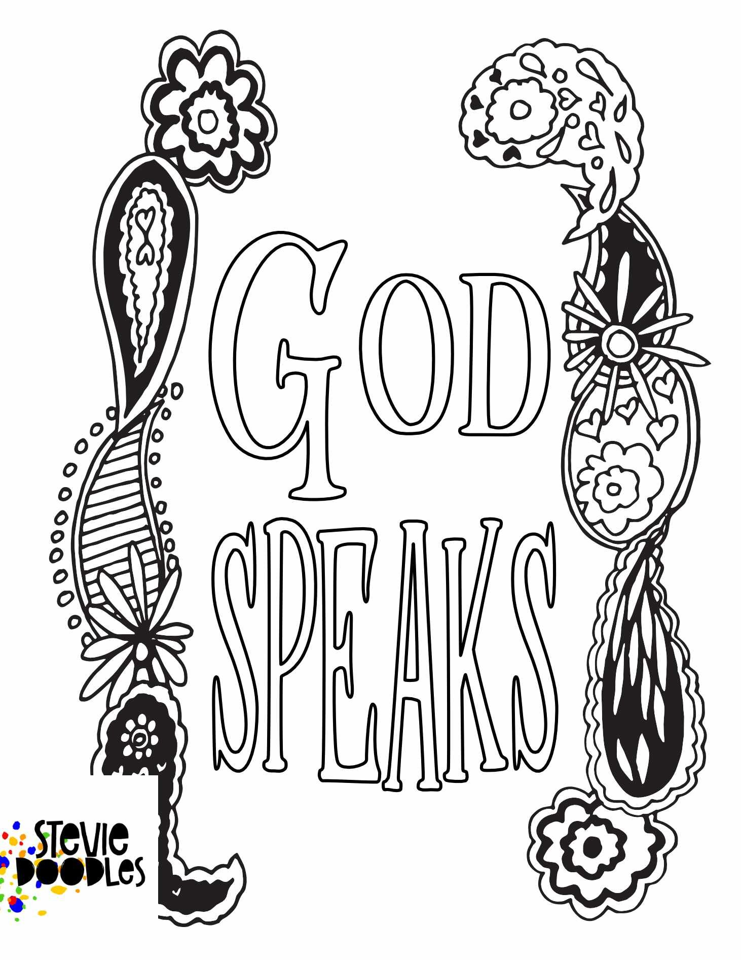 experiencing god — 27+ Free Printable Coloring Pages — Stevie