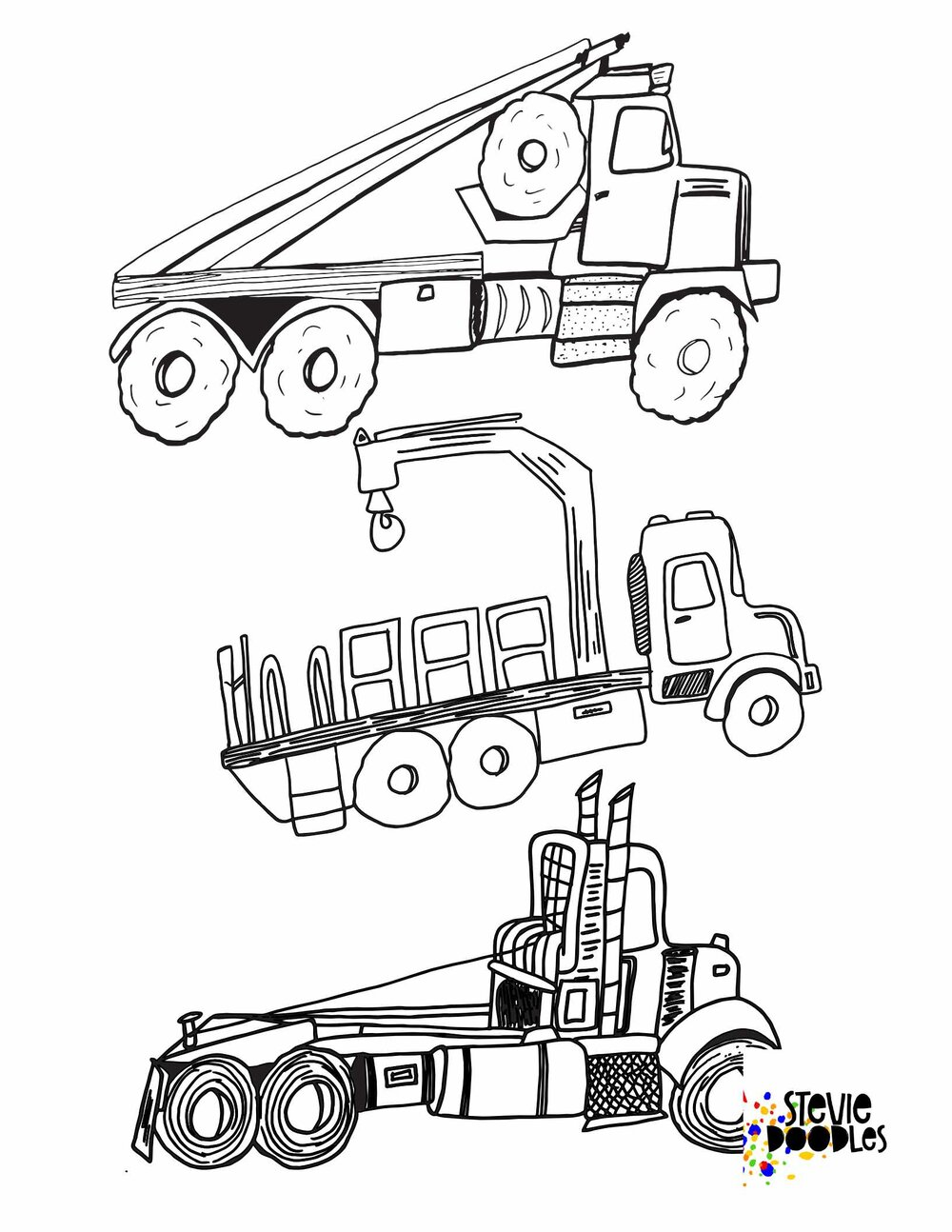 Trucks 1000 Free Printable Coloring Pages Stevie Doodles Free Printable Coloring Pages