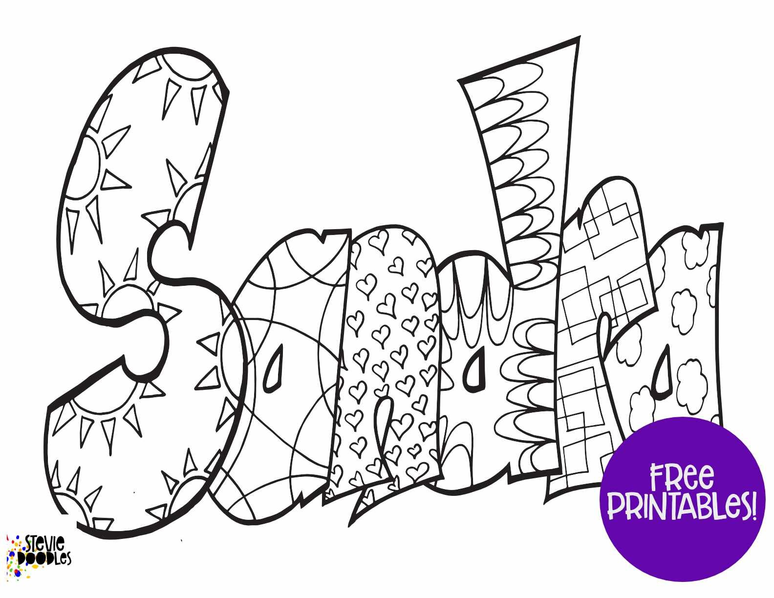 Free Sandra Coloring Page — Stevie Doodles Free Printable Coloring Pages