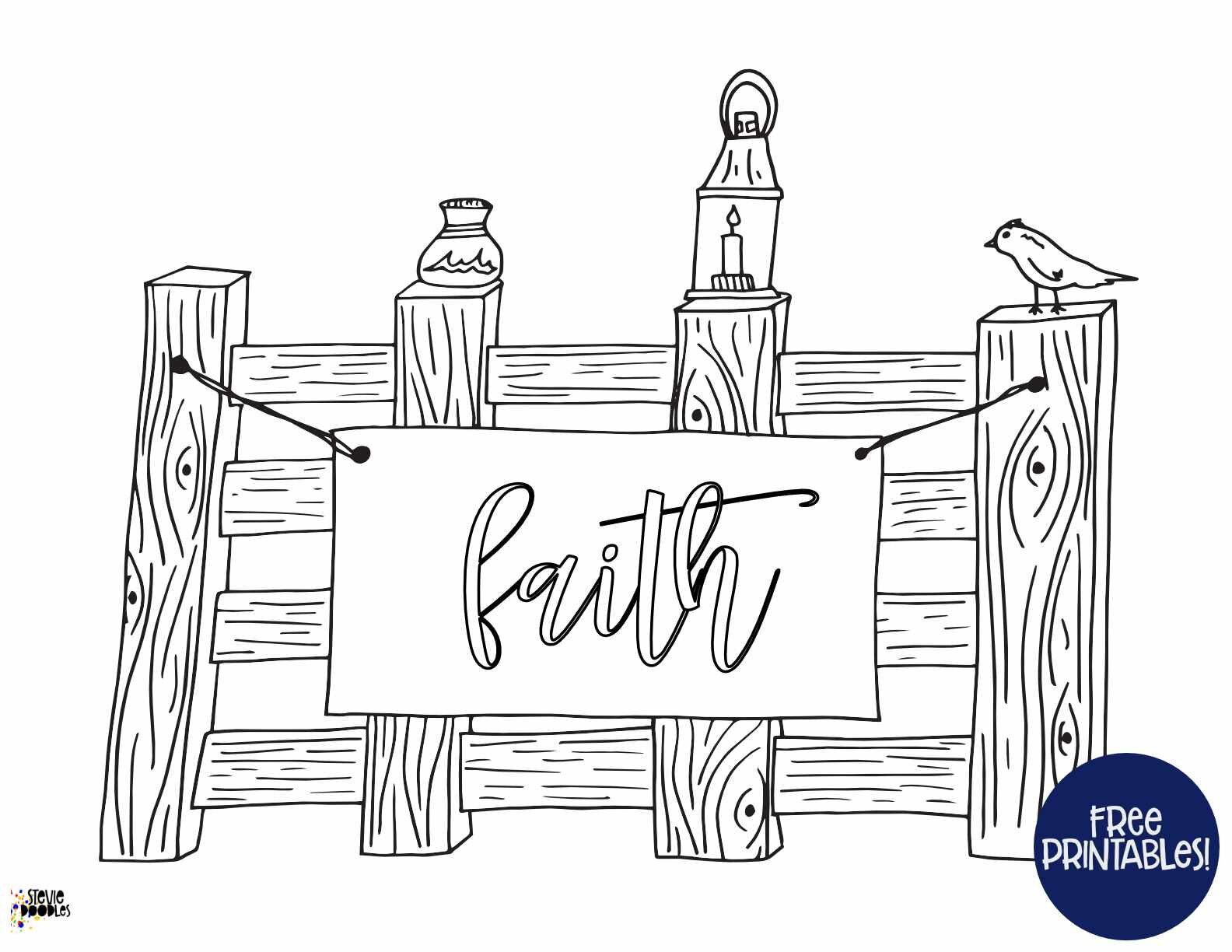 Over 1000 free coloring pages at Stevie DoodlesFaith!Inspiring quote free coloring pages