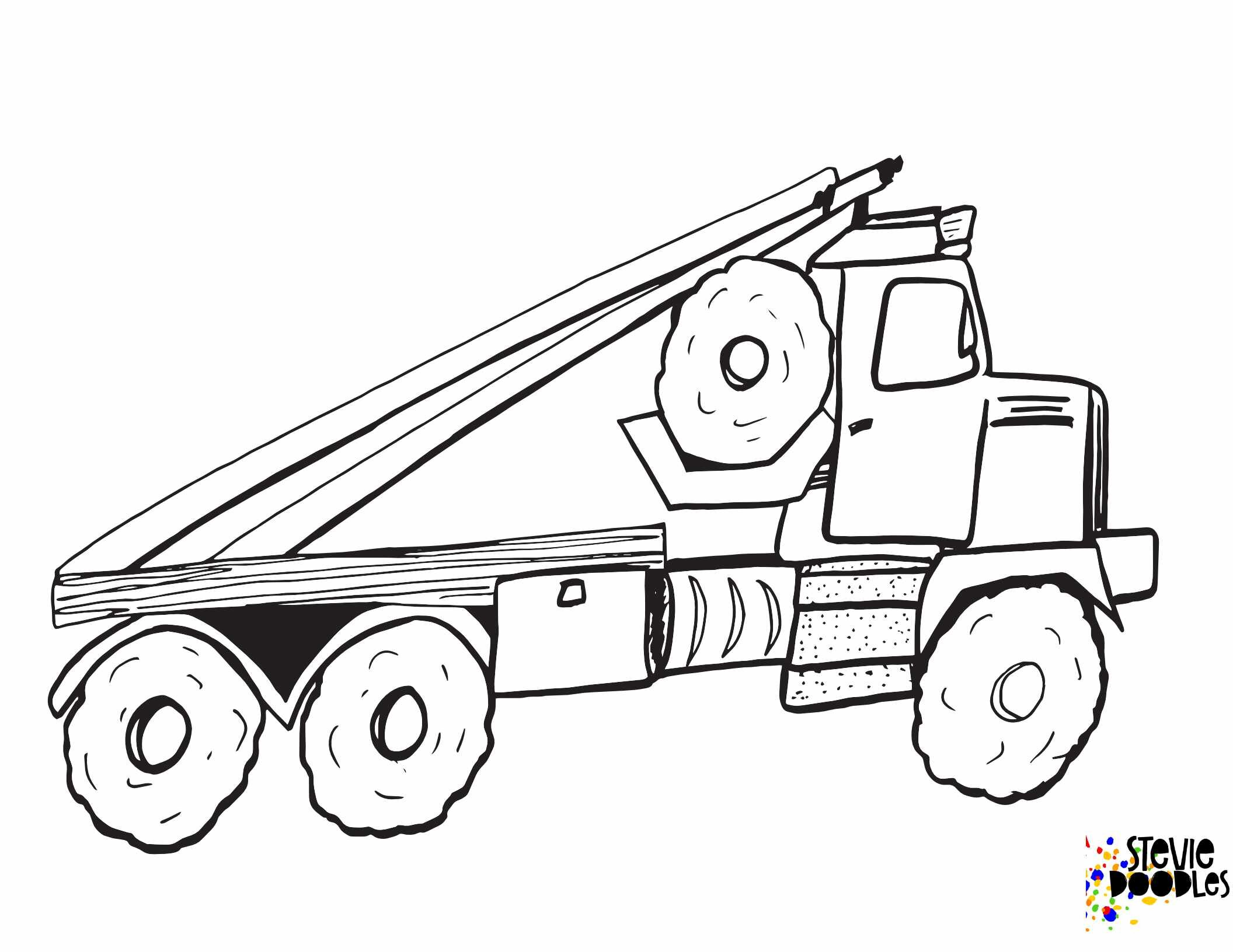 Big Truck A Free Printable Coloring Page 2020 1 Stevie Doodles
