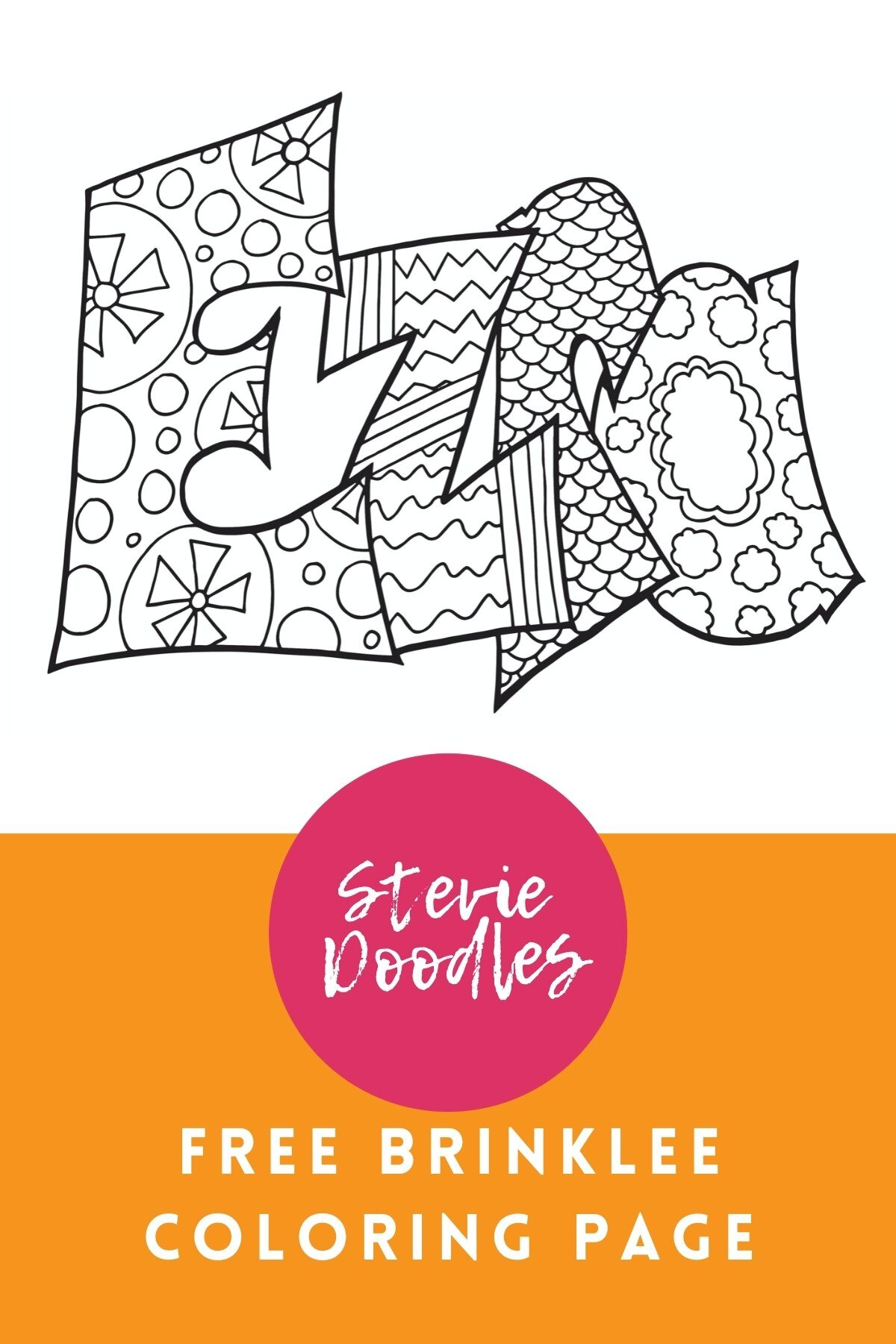 Ezra Free Name Coloring Page — Stevie Doodles Free Printable