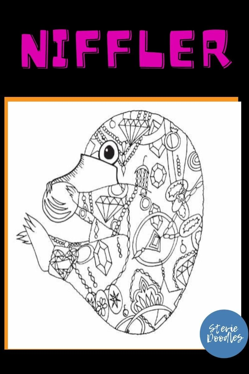 Free Niffler Coloring Page — Stevie Doodles