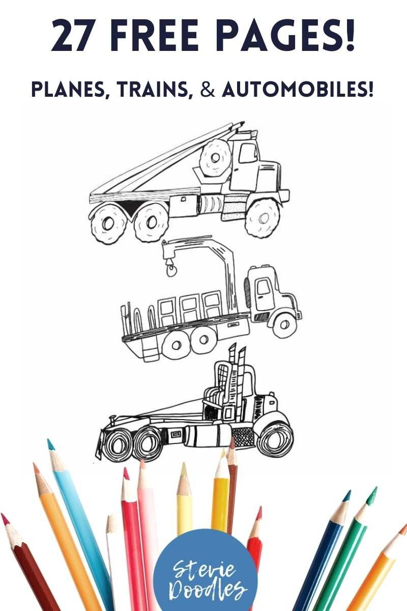 free printable planes trains automobiles coloring pages for kids