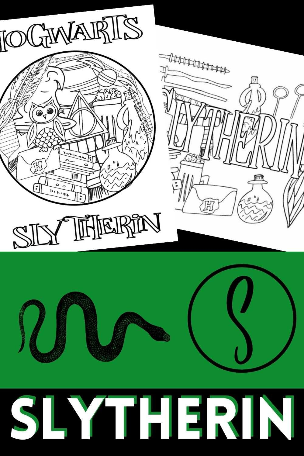 Free Printable Slytherin Pages From Hogwarts Stevie Doodles Free Printable Coloring Pages