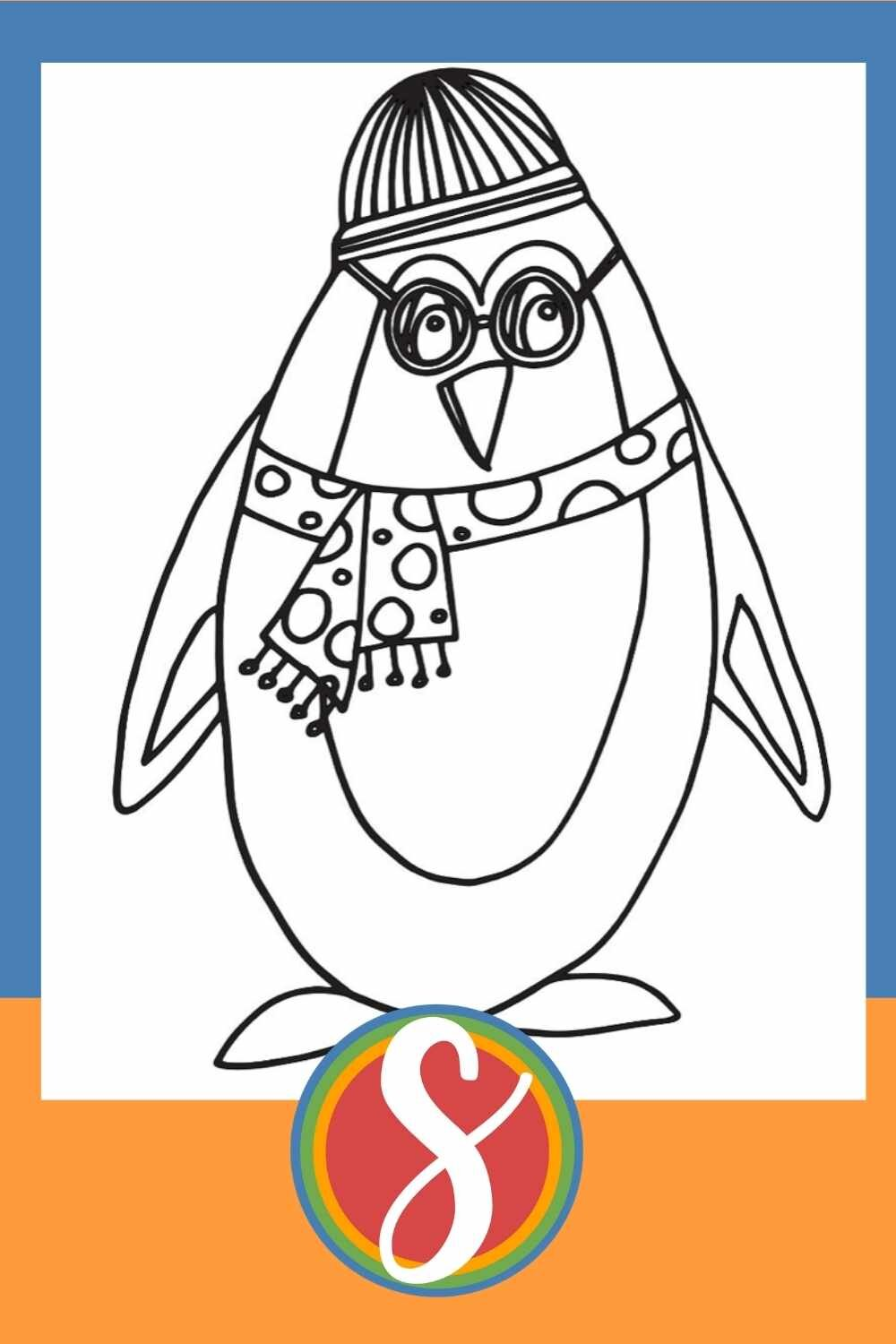 Winter Penguin - 30+ free penguin coloring pages in one post