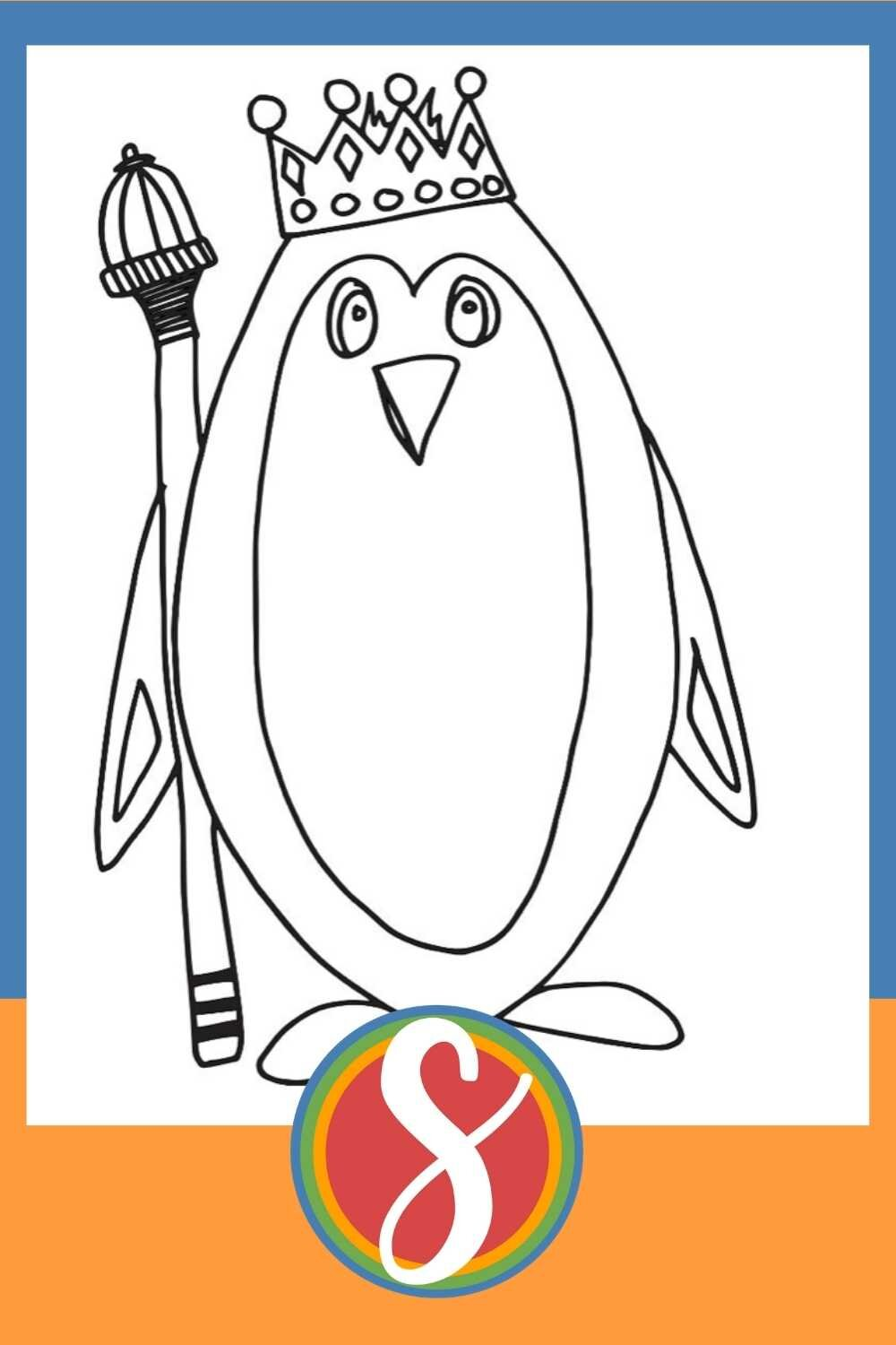 King Penguin - 30+ free penguin coloring pages at Stevie Doodles