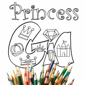 Princess Custom Name Coloring Pages Stevie Doodles Free Printable Coloring Pages