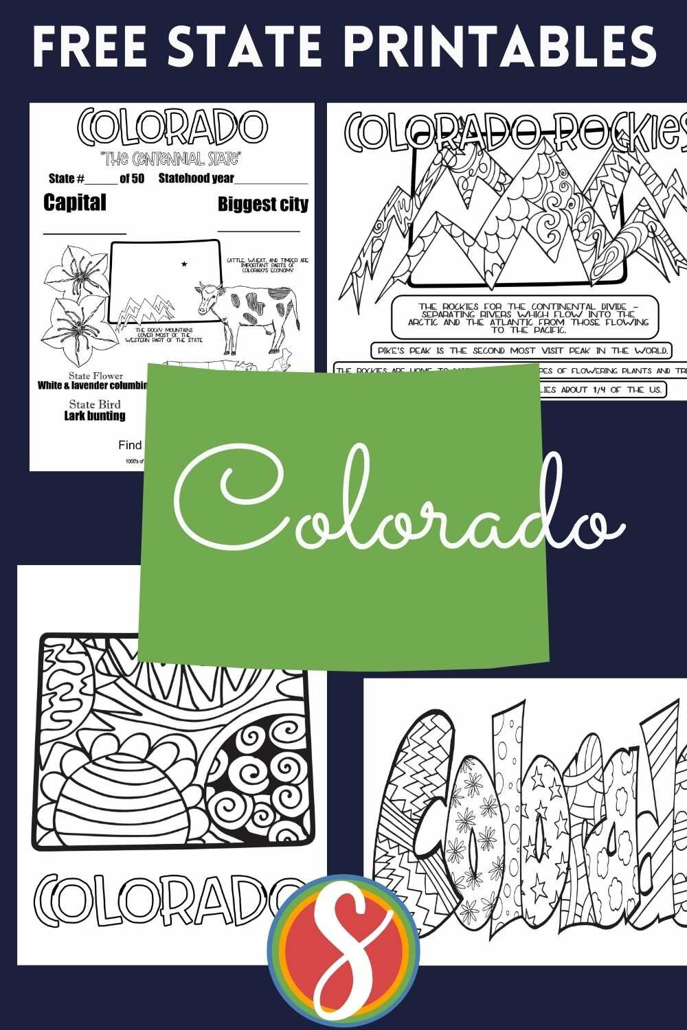 4 free printable Colorado coloring pages indigenous Stevie Doodles - print and color these totally free Colorado colour sheets this particular day + find for her favorite state!