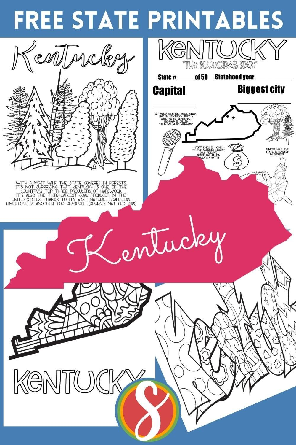 Free! These U.S. states printable coloring sheets from Stevie Doodles are free to print and color. Please enjoy 4 pages for each state + browse 1000's of free coloring pages from Stevie Doodles